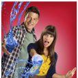 Corey Monteith et Lea Michele de la série  Glee .