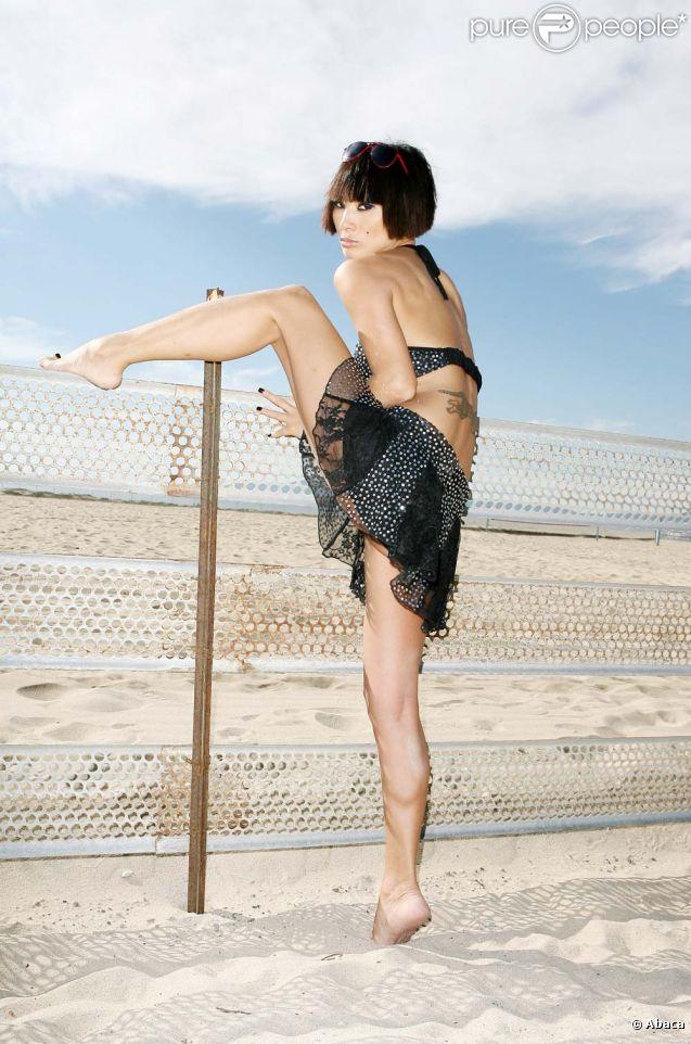 Bai Ling, sur la plage de Marina del Rey, à Los Angeles, le 2010.