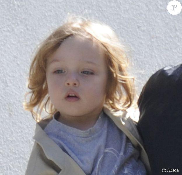 Knox, fils d'Angelina Jolie et Brad Pitt, en mars 2011 à la Nouvelle-Orléans