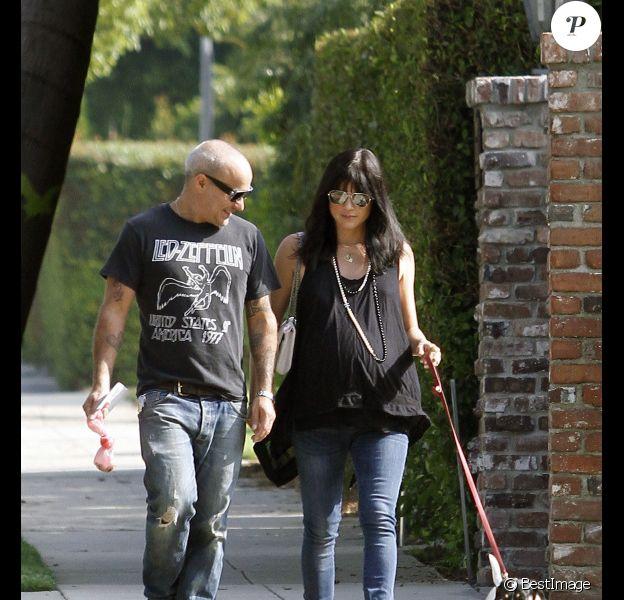 Selma Blair se promène avec son amoureux Jason Bleick, le 23 juillet à Los Angeles