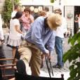 Woody Allen sur le tournage du film Bop Decameron à Rome le 26 juillet 2011