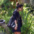 Demi Lovato se rend dans un studio d'enregistrement pour travailler sur son nouvel album, à Los Angeles, le 21 juillet 2011.
