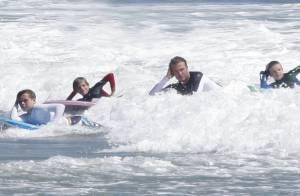 David Beckham embarque avec plaisir ses fils en eaux troubles