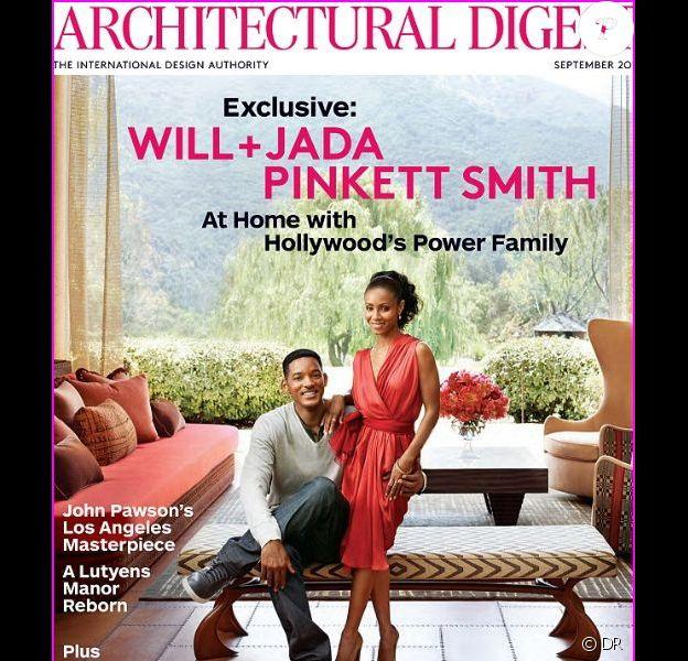 Will Smith et Jada Pinkett Smith en couverture d'Architectural Digest