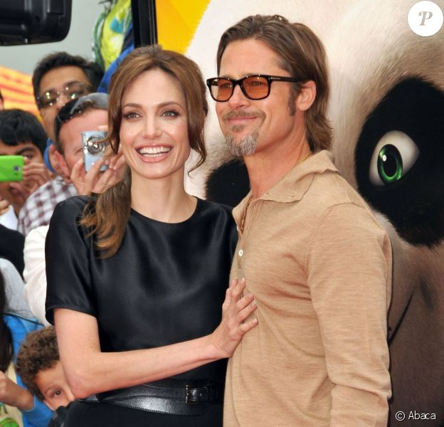 Angelina Jolie et Brad Pitt en mai 2011.