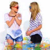 Ashley et Mary-Kate Olsen : concours de T-shirts mouillés pour les jumelles