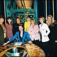Claire Chazal et ses consoeurs de la télé en décembre 993. Béatrice Schönberg, Pascale Breugnot, Alexandra Kazan, Dominique Cantien, Maïté, Marianne Mako et Sophie Favier