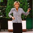 Claire Chazal lors de la conférence de rentrée de TF1 en 2001