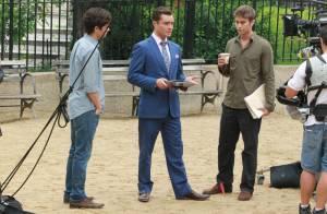 Ed Westwick, Penn Badgley et Chace Crawford : Gossip boys en plein travail
