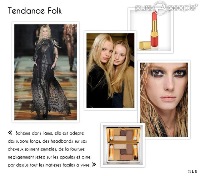 Un style, un make-up : la tendance Folk.