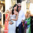 Elisabetta Gregoracci et Flavio Briatore lors du mariage de Petra Ecclestone à Rome le 27 août 2011