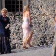 Nicky, Paris et Cathy Hilton lors du mariage de Petra Ecclestone avec James Stunt au Chateau Odescalchi le 27 août 2011