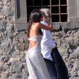 Flavio Briatore et son épouse Elisabetta Gregoraci lors du mariage de Petra Ecclestone avec James Stunt au Chateau Odescalchi le 27 août 2011