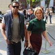 Beyoncé et Jay-Z s'aiment depuis 2002 et se sont dit oui le 4 avril 2008 à New York. Aujourd'hui, le couple star attend son premier enfant. (Paris, 24 avril 2011)