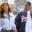 Beyoncé et Jay-Z s'aiment depuis 2002 et se sont dit oui le 4 avril 2008 à New York. Aujourd'hui, le couple star attend son premier enfant. (New York, 8 avril 2004)