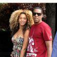 Beyoncé et Jay-Z s'aiment depuis 2002 et se sont dit oui le 4 avril 2008 à New York. Aujourd'hui, le couple star attend son premier enfant. (New York, 16 juillet 2011)