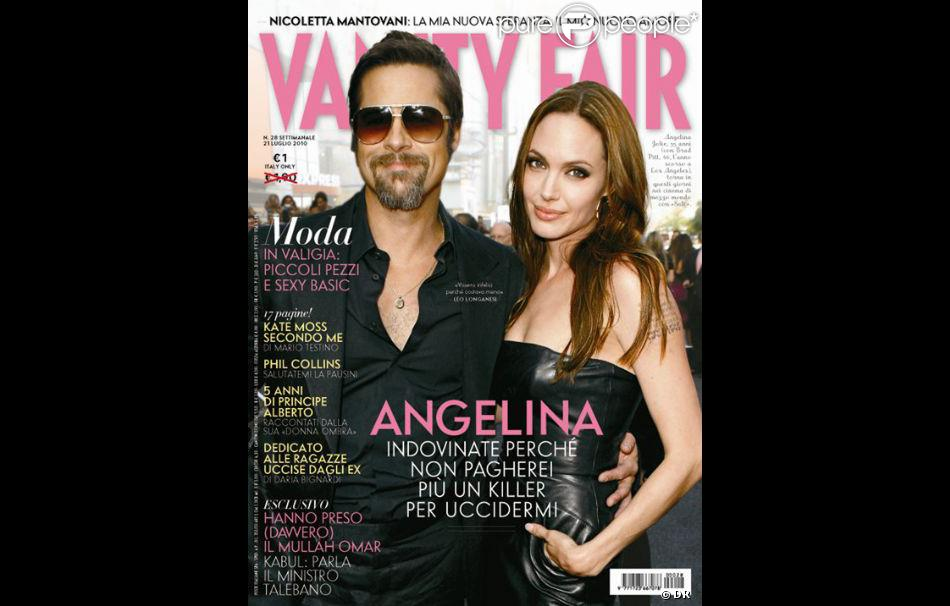 le couple le plus puissant du cin ma en couverture du vanity fair italien 21 juillet 2010. Black Bedroom Furniture Sets. Home Design Ideas