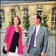 François Hollande et Ségolène Royal à Paris le 29 juillet 1998.