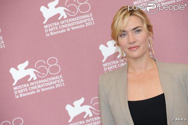 Kate Winslet lors du photocall du film Carnage au festival de Venise le 1er septembre 2011