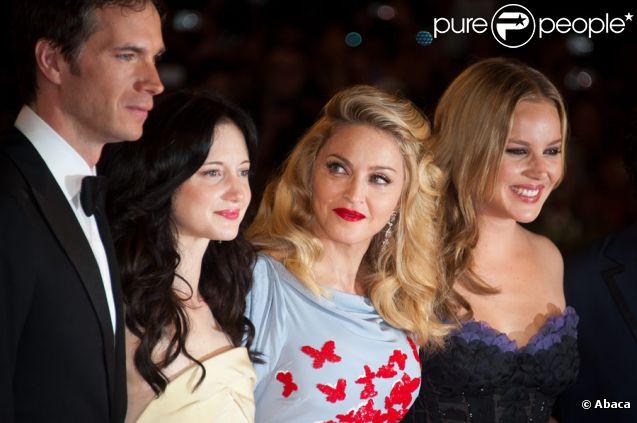 James d'Arcy, Andrea Riseborough, Madonna et Abbie Cornish lors de l'avant-première du film W.E. au festival de Venise le 1er septembre 2011
