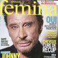 Johnny Hallyday en couverture de  Version Fémina , en kiosques le 4 septembre 2011.