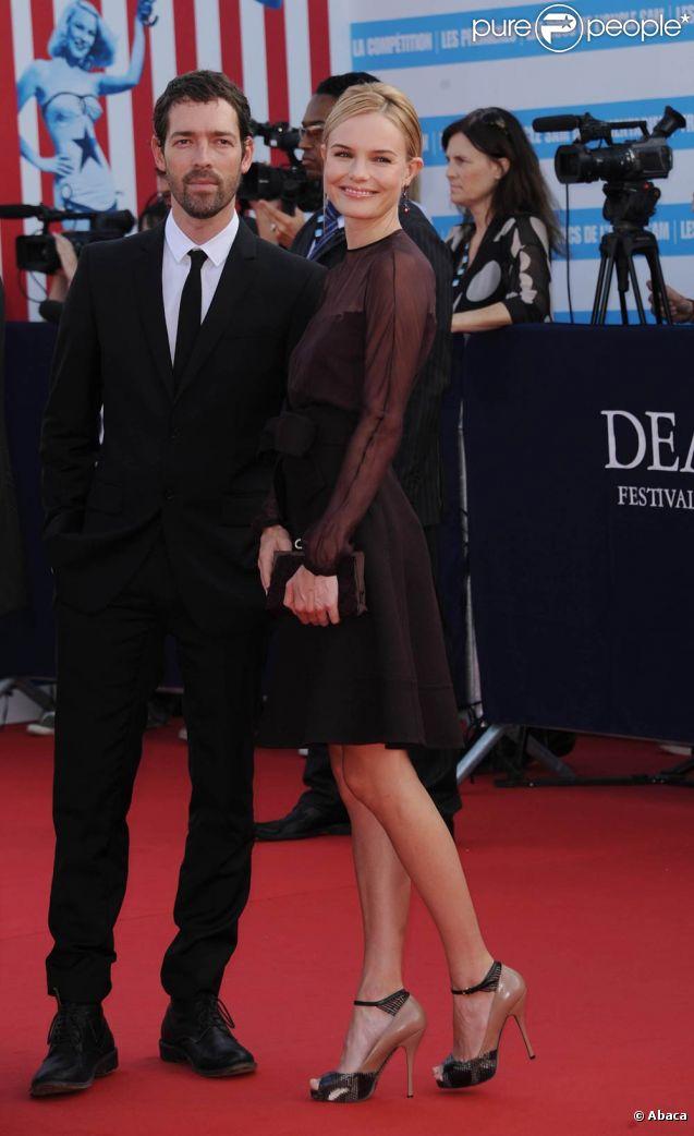 Kate Bosworth officialise avec son chéri Michael Polish lors de la cérémonie d'ouverture du 37e festival du cinéma américain. Le 2 septembre 2011, à Deauville
