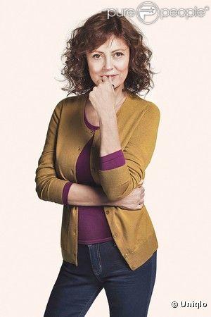 Susan Sarandon est la nouvelle image de la griffe Uniqlo