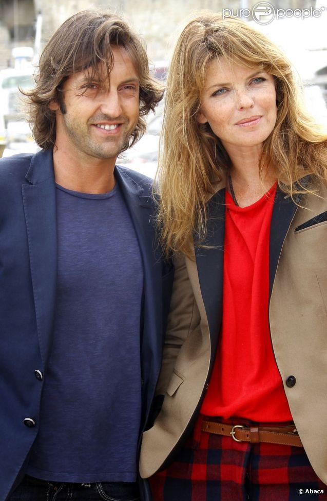 Frédéric Diefenthal et sa femme Gwendoline Hamon, couple glamour, au 13ème festival de La Rochelle, le 8 septembre