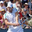 Andy Roddick, sous les yeux de sa belle Brooklyn Decker s'est imposé dans la rencontre qui l'opposait à David Ferrer à l'US Open 2011