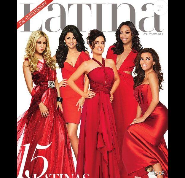 Shakira, Selena Gomez, Salma Hayek, Zoe Saldana et Eva Longoria réalisent la couverture du numéro collector de Latina, qui fête son quinzième anniversaire.