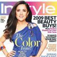 Avril 2009 : toujours aussi rayonnante, Salma Hayek est en couverture du magazine InStyle.