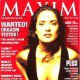 L'actrice Salma Hayek était en couverture du magazine masculin Maxim en mai 1997.