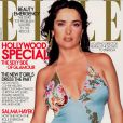 Novembre 2002 : l'actrice aux formes généreuses Salma Hayek apparaît en couverture du magazine Elle.