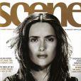 L'actrice et beauté mexicaine Salma Hayek, en couverture du magazine Scene. Juillet 1999.