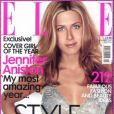 Jennifer Aniston, en couverture du magazine  Elle  de novembre 2000.