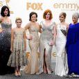 Toute l'équipe de Mad Men lors des 63ème Emmy Awards, à Los Angeles, le 18 septembre 2011
