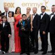 Toute l'équipe de Modern Family lors des 63ème Emmy Awards, à Los Angeles, le 18 septembre 2011