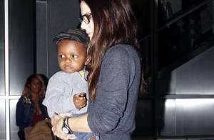 Sandra Bullock : Jamais sans son fils, le craquant petit Louis !
