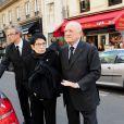 Arrivée de Zizi Jeanmaire et PIerre Bergé pour la messe en hommage à Roland Petit en l'église St Roch à Paris, le 23 septembre 2011. Le chorégraphe est décédé le 10 juillet dernier à Genève.
