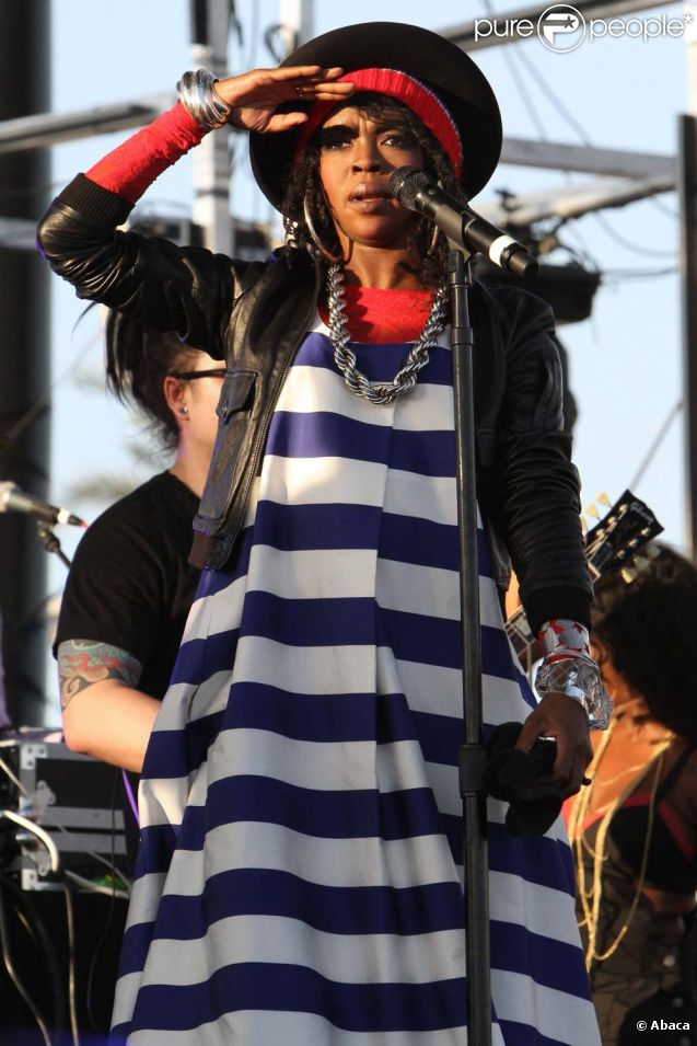 Lauryn Hill au festival Coachella en Californie, le 15 avril 2011.