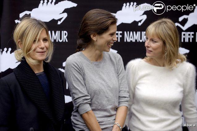 Karin Viard, Marina Foïs et Maïwenn lors du festival international du film francophone de Namur en Belgique le 4 octobre 2011