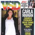 Carla Bruni-Sarkozy en couverture du nouveau numéro de  VSD , en kiosques le 6 octobre 2011.