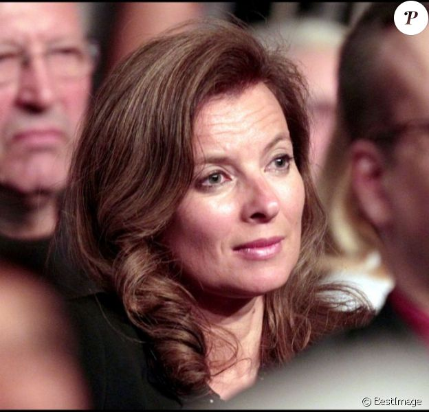 Valérie Trierweiler au lancement de la campagne de François Hollande, à Clichy-La-Garenne, le 27 avril 2011.