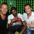 Jean-Roch, Snoop Dogg et Nenê lors de l'anniversaire de Jean-Roch au VIP ROOM à Paris le 5 octobre 2011