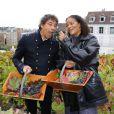 Laurent Voulzy et Jocelyn Béroard, de Kassav', ont apporté le soleil des îles sur la traditionnelle vendange du clos Montmartre, samedi 8 octobre 2011, lors de la traditionnelle Fête des Vendanges de Montmartre.