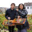 Laurent Voulzy et Jocelyn Béroard ont apporté le soleil des îles sur la traditionnelle vendange du clos Montmartre, samedi 8 octobre 2011.