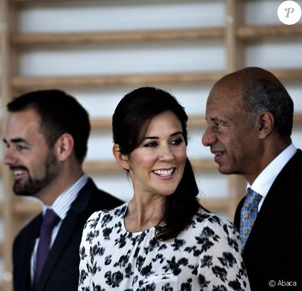 La princesse Mary de Danemark inaugurait mardi 11 octobre 2011 les nouvelles installations du campus d'Aarhus.