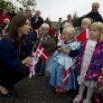 La princesse Mary dans une crèche d'Aalborg pour le lancement de son programme LeseLeg, le 3 octobre 2011.