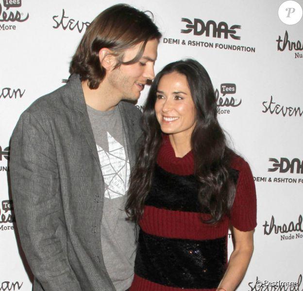 Ashton Kutcher et Demi Moore