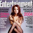 Lindsay Lohan gagne en reconaissance après Freaky Friday et Lolita Malgré Moi. L'actrice pose en Une de Entertainment Weekly. 17 décembre 2004.